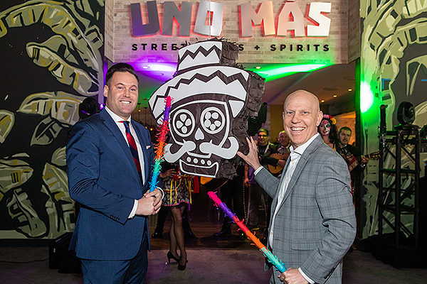 Anthony Olheiser and Paul Hobson at the Grand Opening of Uno Mas 1