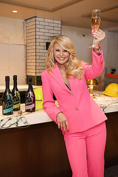 Smith Wollensky with Christie Brinkley with Bellissima Prosecco