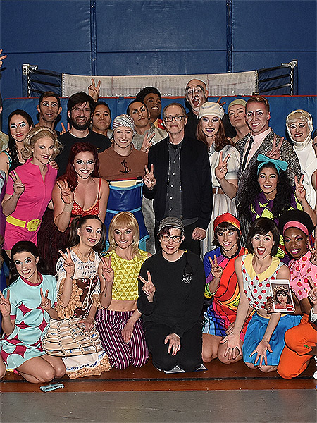 Steve Buscemi with the cast of Beatles LOVE by Cirque du Soleil Friday April 5 copy