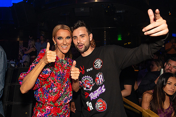 Celine Dion and Canadian based DJ Dzeko at OMNIA Nightclub inside Caesars Palace on Saturday June 8 Photo Credit Wolf Productions