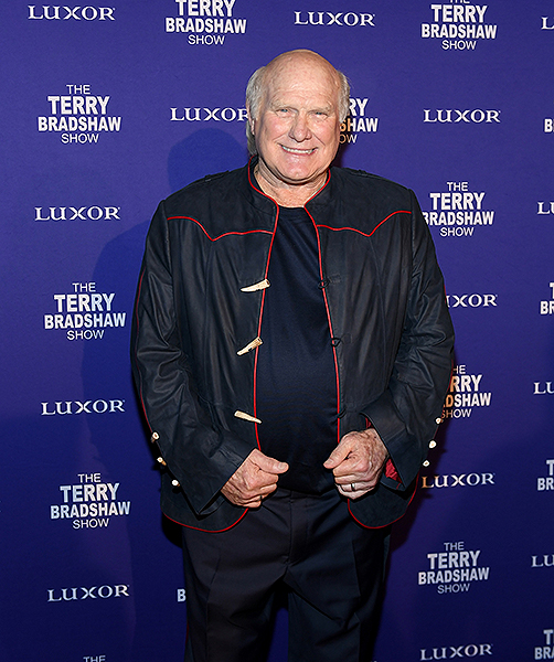 Terry Bradshaw walks the red carpet during the premiere of his show The Terry Bradshaw Show at Luxor Hotel and Casino in Las Vegas