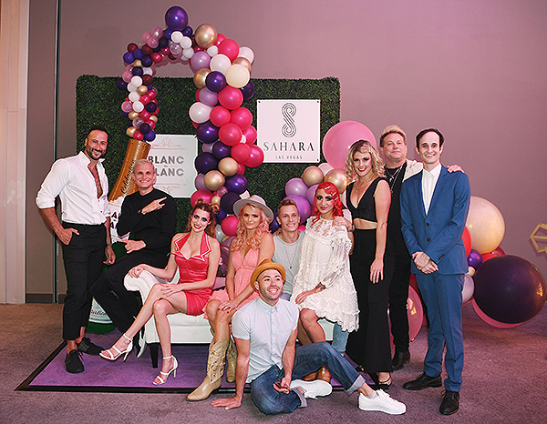 BLANC de BLANC cast and creator Scott Maidment at the shows grand opening at SAHARA Las Vegas Weds. Sept. 4