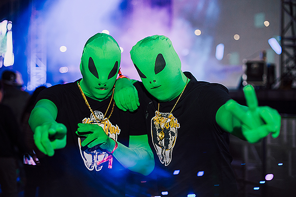 Aliens roam the Downtown Las Vegas Event Center - Photo credit: DLVEC