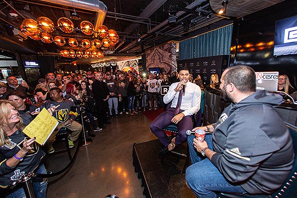 Wayne Big D Danielson hosts QA session with Ryan Reaves at Hyde Lounge at TMA 10.17.19
