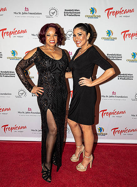 Angela Teek and Mia St. John at Trago Lounge inside Tropicana Las Vegas Photo Credit Key Lime Photography