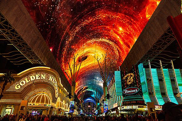 Fremont Street Experience Introduces Multi Sensory Show and Upgraded Viva Vision Canopy credit Black Raven Films for Fremont Street Experience