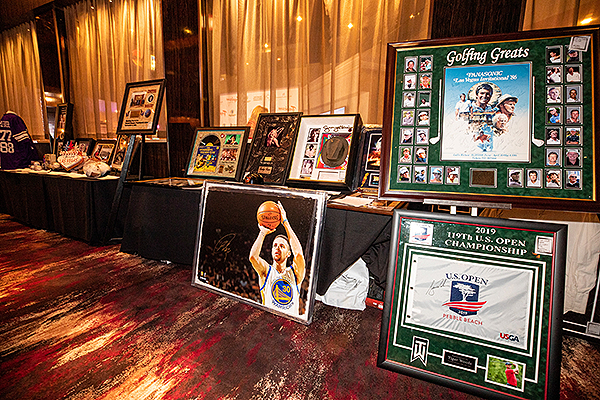 Silent Auction Items at Trago Lounge inside Tropicana Las Vegas Photo Credit Key Lime Photography