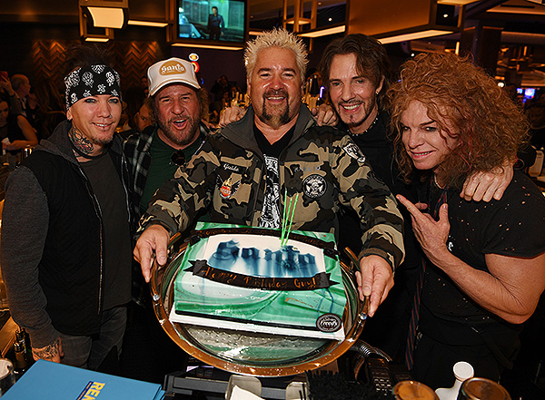 DJ Ashba, Sammy Hagar, Guy Feiri, Rick Springfield, and Carrot Top - Photo credit: Denise Truscello