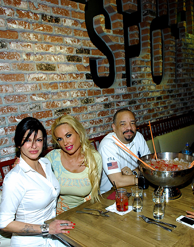 Carla Pellegrino Coco Austin and Ice T at Meatball Spot