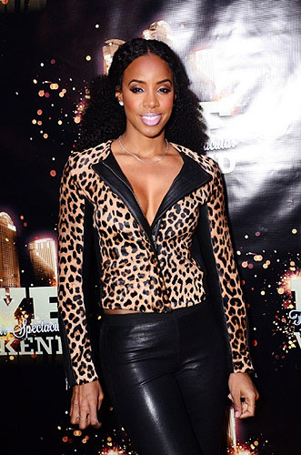 Kelly Rowland arrives at Rain in Palms Casino Resort credit Aaron Garcia