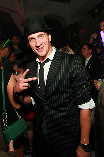 Ryan Lochte parties at Hyde Bellagio Las Vegas 12.30.12