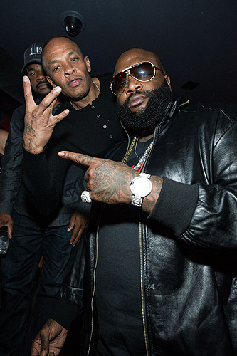Dr Dre and Rick Ross Beats by Dre party Marquee Nightclub