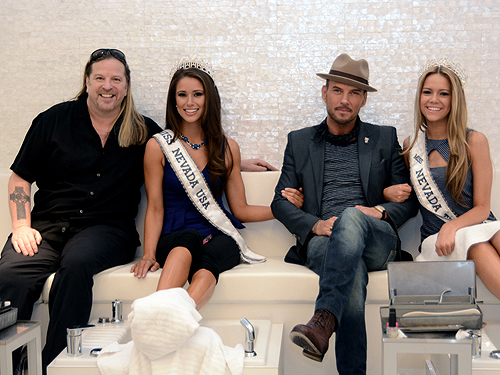 Michael Boychuck Miss Nevada USA Nia Sanchez Matt Goss and Miss Nevada Teen USA Alexa Taylor