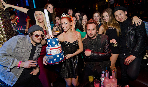Bonnie Mckee Cake Group Shot at TAO
