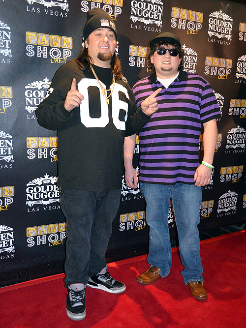 Austin Chumlee Russell and cast member Garret Grant Pawn Shop Live 31675