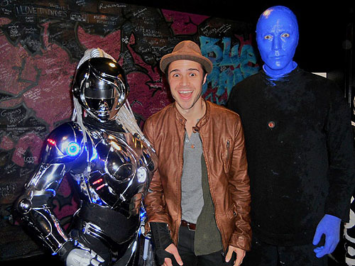 2.10.13 Kris Allen at Blue Man Group at Monte Carlo Resort and Casino