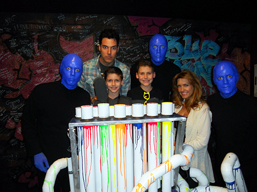 2.11.13 Frankie Moreno and family attend Blue Man Group at Monte Carlo Resort and Casino