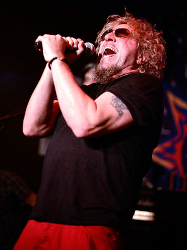 Sammy Hagar During His Performance at Cabo Wabo Cantina