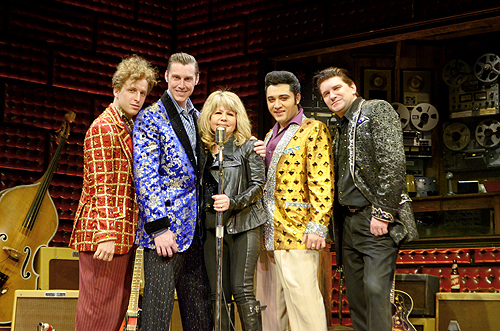 Pia Zadora with Cast of Million Dollar Quartet Las Vegas 2.4.14 Caesars Entertainment