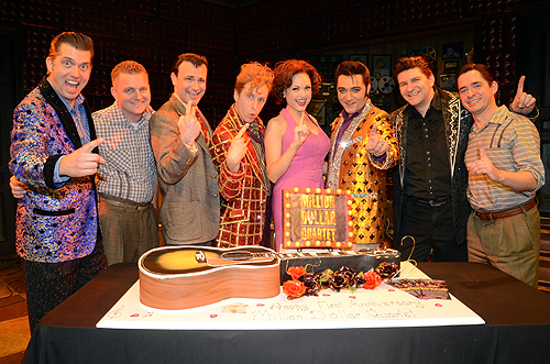 Cast of Million Dollar Quartet Las Vegas First Anniversary 2.19.14 Caesars Entertainment
