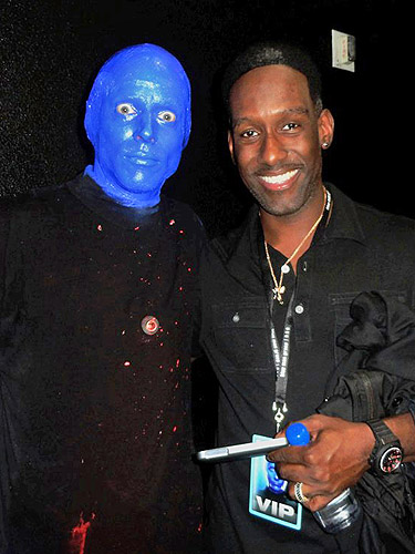 3.22.13 Shawn Stockman of Boyz II Men at Blue Man Group in Monte Carlo Resort and Casino