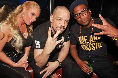 3.28.13 Coco Austin Ice-T and 12th Planet hang out at Body English Nightclub and Afterhours