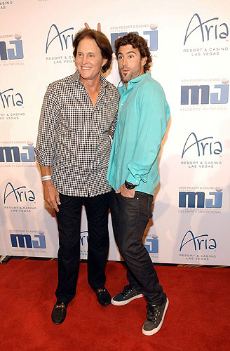Bruce and Brody Jenner on the red carpet at MJCI Gala at ARIA Resort and Casino Las Vegas 4.5.13
