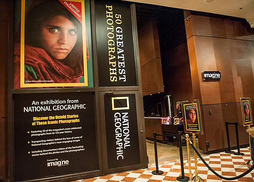 Main Entrance to 50 Greatest Photographs of National Geographic 2013 Tom Donoghue Photography and Imagine Exhibitions Inc