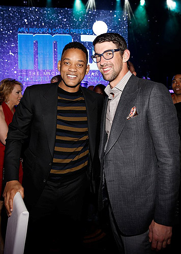 Will Smith and Michael Phelps at MJCI Gala at ARIA Resort and Casino Las Vegas 4.5.13