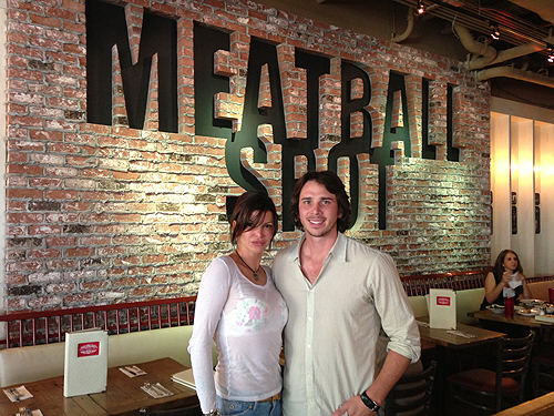 Benjamin Flajnik Poses with Chef Carla Pellegrino