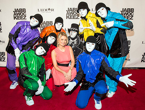 Holly Madison and Jabbawockeez