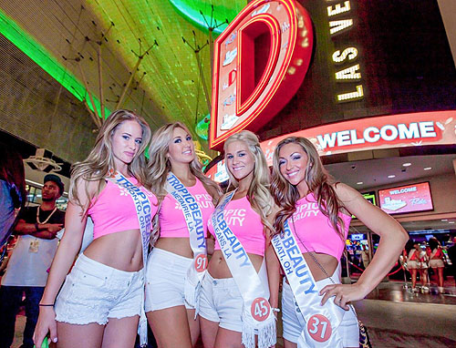 Tropic Beauty Model Search contestants pose at the D Las Vegas 6.10.14