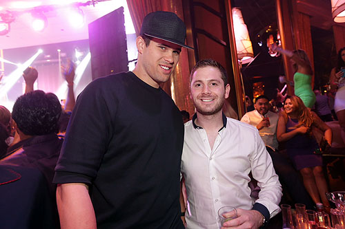 XS nightclub - Kris Humphries and Josh Ketroser - photo credit Danny Mahoney
