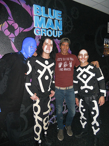 6.26.14 Greg Howe Attends Blue Man Group at Monte Carlo Resort and Casino