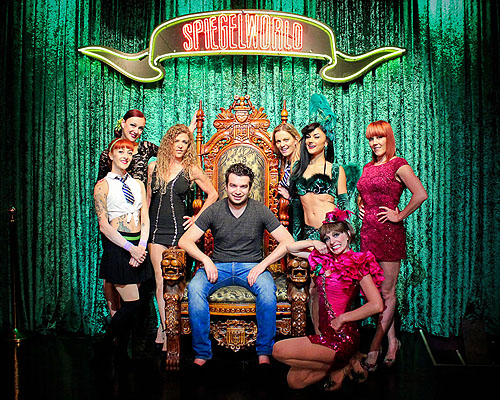 Chris Moorman with the Ladies of ABSINTHE 7.4.14