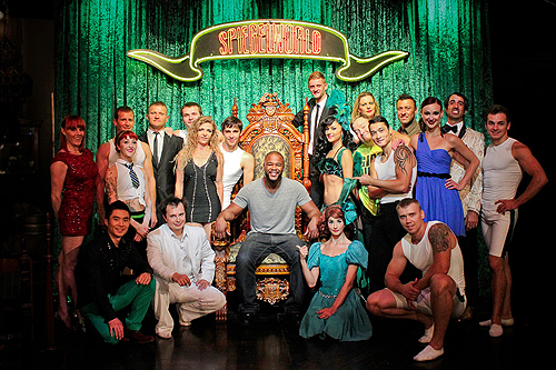 Rashad Evans with the Cast of ABSINTHE 7.2.14