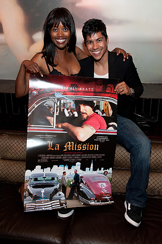 Erika_Alexander__Jeremy_Ray_Valdez_with_La_Mission_poster_at_LAVO