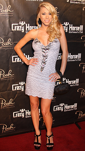Katie Morgan on the red carpet at Crazy Horse III