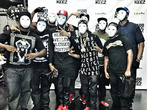 Tyga at Jabbawockeez 1