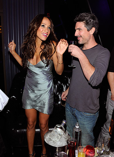 Dania_Ramirez_and_fiance_Bev_Land_dance_at_their_VIP_table_at_Chateau_Nightclub