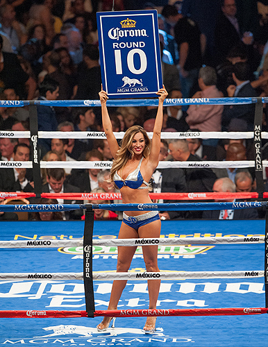 Jaime Lynch as Ring Girl Round 10 Mayweather v. Canelo