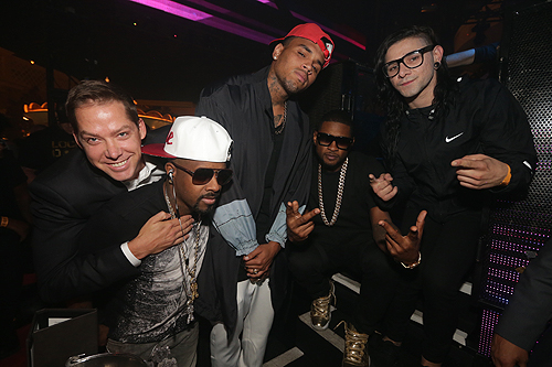 09.19 Jesse Waits Jermaine Dupri Chris Brown Usher Skrillex XS