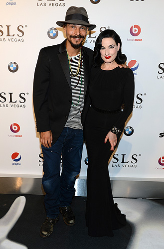 Jason Scoppa and model Dita Von Teese