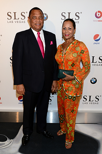 Prime Minister of the Bahamas Perry Christie and Bernadette Hanna