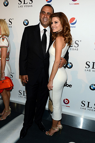 Sam Nazarian and TV personality Maria Menounos