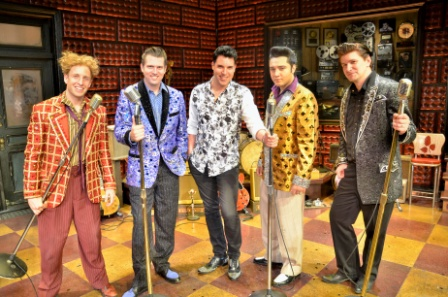 Frankie Moreno with cast of Million Dollar Quartet Caesars Entertainment