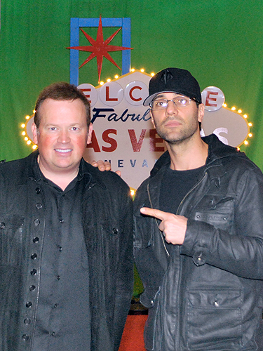Nathan Burton with Criss Angel at Saxe Theater