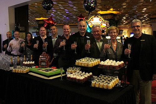 10.10.14 Rampart Casino Executives Toast to the 15-Year Anniversary