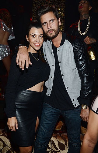 Kourtney Kardashian and Scott Disick at TAO