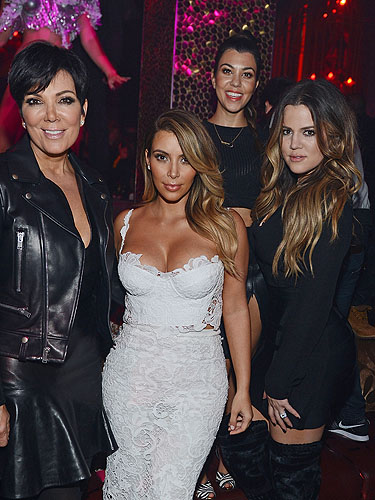 Kris Jenner Kim Kourntey and Khloe Kardashian at TAO